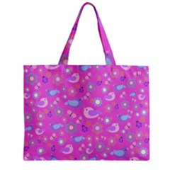 Spring pattern - pink Zipper Mini Tote Bag
