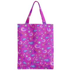 Spring pattern - pink Zipper Classic Tote Bag