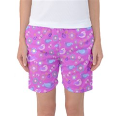 Spring pattern - pink Women s Basketball Shorts