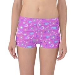 Spring pattern - pink Boyleg Bikini Bottoms