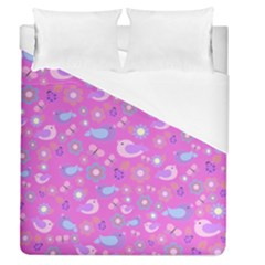 Spring pattern - pink Duvet Cover (Queen Size)