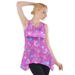 Spring pattern - pink Side Drop Tank Tunic