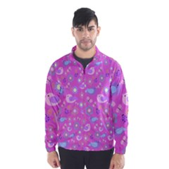 Spring pattern - pink Wind Breaker (Men)