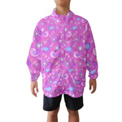 Spring pattern - pink Wind Breaker (Kids)