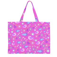 Spring pattern - pink Large Tote Bag