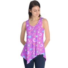 Spring pattern - pink Sleeveless Tunic