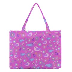 Spring pattern - pink Medium Tote Bag