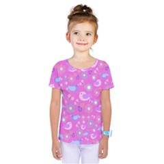 Spring pattern - pink Kids  One Piece Tee