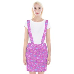 Spring pattern - pink Suspender Skirt