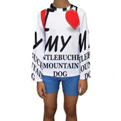 Entlebucher Mountain Dog Love Kids  Long Sleeve Swimwear