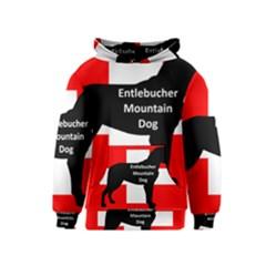 Entlebucher Mt Dog Name Silo On Switzerland Flag Kids  Pullover Hoodie