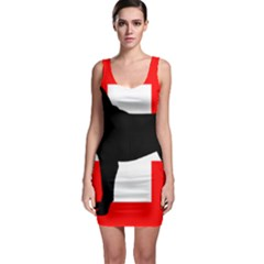 Entlebucher Mt Dog Silo Switzerland Flag Sleeveless Bodycon Dress