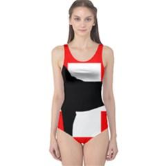 Entlebucher Mt Dog Silo Switzerland Flag One Piece Swimsuit