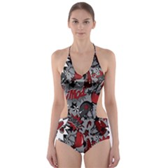 Roller Derby Slam Cut-Out One Piece Swimsuit