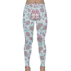 Space Roses Classic Yoga Leggings