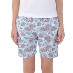 Space Roses Women s Basketball Shorts