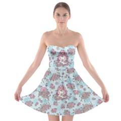 Space Roses Strapless Bra Top Dress