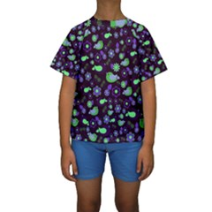 Spring night Kids  Short Sleeve Swimwear