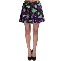 Spring night Skater Skirt
