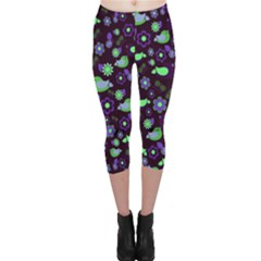 Spring night Capri Leggings