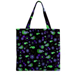 Spring night Zipper Grocery Tote Bag