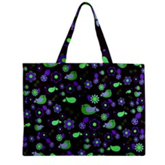 Spring night Zipper Mini Tote Bag