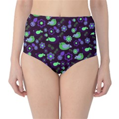 Spring night High-Waist Bikini Bottoms