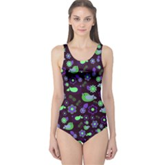 Spring night One Piece Swimsuit
