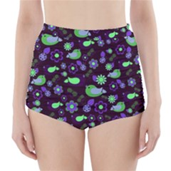 Spring night High-Waisted Bikini Bottoms