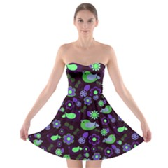 Spring night Strapless Bra Top Dress