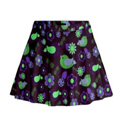 Spring night Mini Flare Skirt