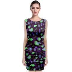 Spring night Sleeveless Velvet Midi Dress
