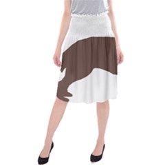 Flat Coated Retriever Silo Color Midi Beach Skirt