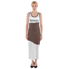 Flat Coated Retriever Silo Color Fitted Maxi Dress