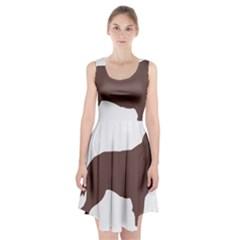 Flat Coated Retriever Silo Color Racerback Midi Dress