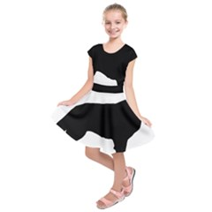 Flat Coated Retriever Silo Kids  Short Sleeve Dress