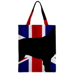 Flat Coated Retriever Silo England United Kingdom Zipper Classic Tote Bag