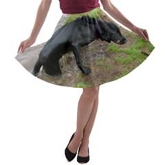 Flat Coated Retriever Wet A-line Skater Skirt