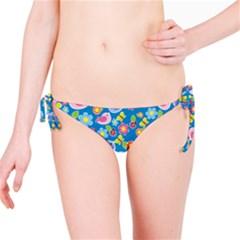 Spring pattern - blue Bikini Bottom