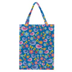 Spring pattern - blue Classic Tote Bag