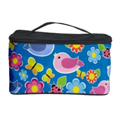 Spring pattern - blue Cosmetic Storage Case