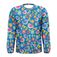 Spring pattern - blue Men s Long Sleeve Tee