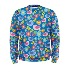Spring pattern - blue Men s Sweatshirt