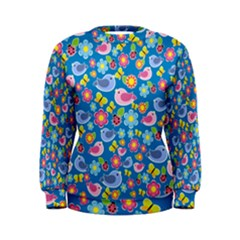Spring pattern - blue Women s Sweatshirt
