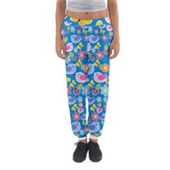 Spring pattern - blue Women s Jogger Sweatpants