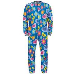 Spring pattern - blue OnePiece Jumpsuit (Men)