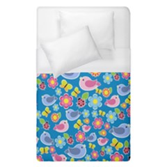 Spring pattern - blue Duvet Cover (Single Size)
