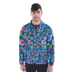 Spring pattern - blue Wind Breaker (Men)