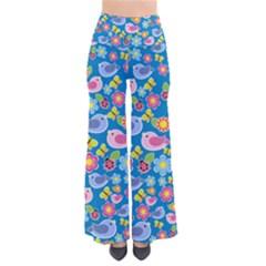 Spring pattern - blue Pants