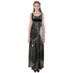 Flat Coated Retriever Muddy Wet Empire Waist Maxi Dress